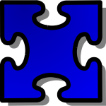 Vector illustration of puzzle piece 3