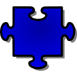 nicubunu Blue Jigsaw piece 06