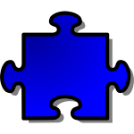nicubunu Blue Jigsaw piece 08