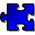 nicubunu Blue Jigsaw piece 16