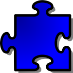 nicubunu Blue Jigsaw piece 3