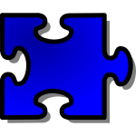 nicubunu Blue Jigsaw piece 4
