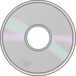 Compact Disc with surface damage graphics
