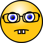Vector clip art of nerdy face emoticon