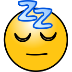 Sleeping face emoticon