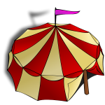 Vector clip art of role play game map icon for a circus tent