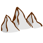 RPG map symbols: mountains