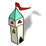 RPG map symbols: tower