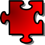 Red Jigsaw piece 2