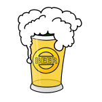 Vector image of beer in glass