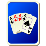 Blue playing card back vector illustration