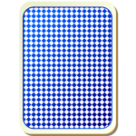 Grid blue playing card vector image