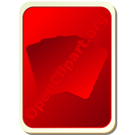Back of red playing card vector image