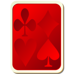Playing card back red vector image