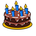 Birthday cake vector drawing