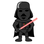 Darth comic character vector image