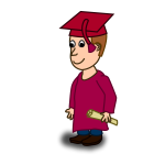 Graduation student comic character vector image