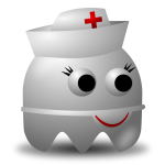 Cartoon image of a nurse