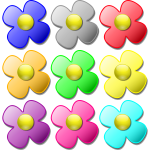 Game marbles - flowers vector