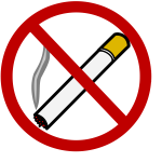 No smoking sign vector clip art