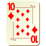 Ten of diamonds vector graphics