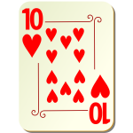 Ten of hearts vector clip art