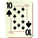 Ten of spades playing card vector illustration
