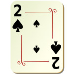 Two of spades playing card vector illustration