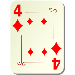Four of diamonds vector clip art