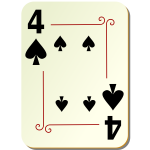 Four of spades playing card vector illustration