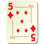 Five of diamonds vector graphics