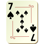 Seven of spades playing card vector illustration