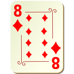 Eight of diamonds vector image