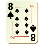 Eight of spades playing card vector illustration