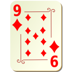 Nine of diamonds vector clip art