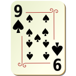 Nine of spades playing card vector illustration