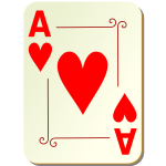 Ace of hearts vector graphics