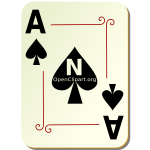 Ace of spades playing card vector illustration