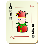 Black Joker playing card vector image