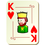 King of hearts vector illustration