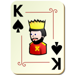 King of spades playing card vector illustration