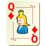 Queen of diamonds vector clip art