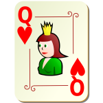 Queen of hearts vector clip art