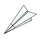 Paper plane vector illustration