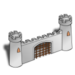 Gate of a castle vector