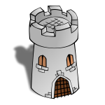 Round Tower map vector symbol