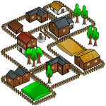 Village vector map symbol