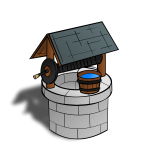 Wishing well RPG map symbol vector image