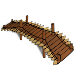Wooden bridge RPG map symbol vector clip art
