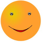 Vector clip art of happy yellow face